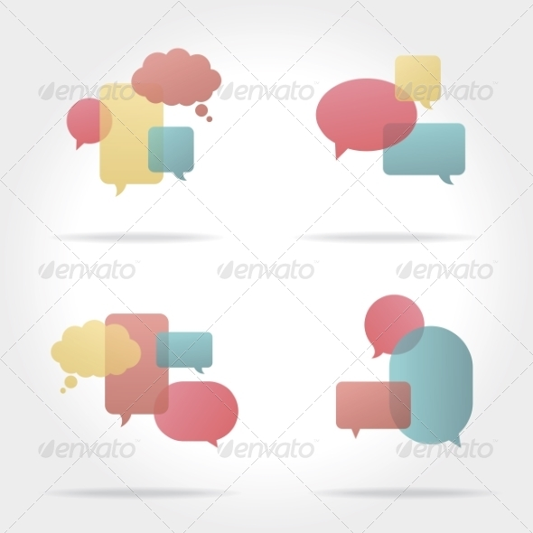 GraphicRiver Set of Colorful Speech Bubbles 8469438
