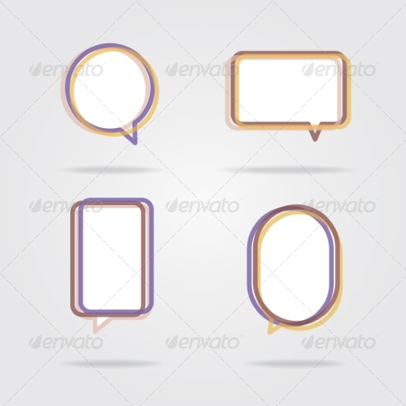 GraphicRiver Set of Colorful Speech Bubbles 8469440