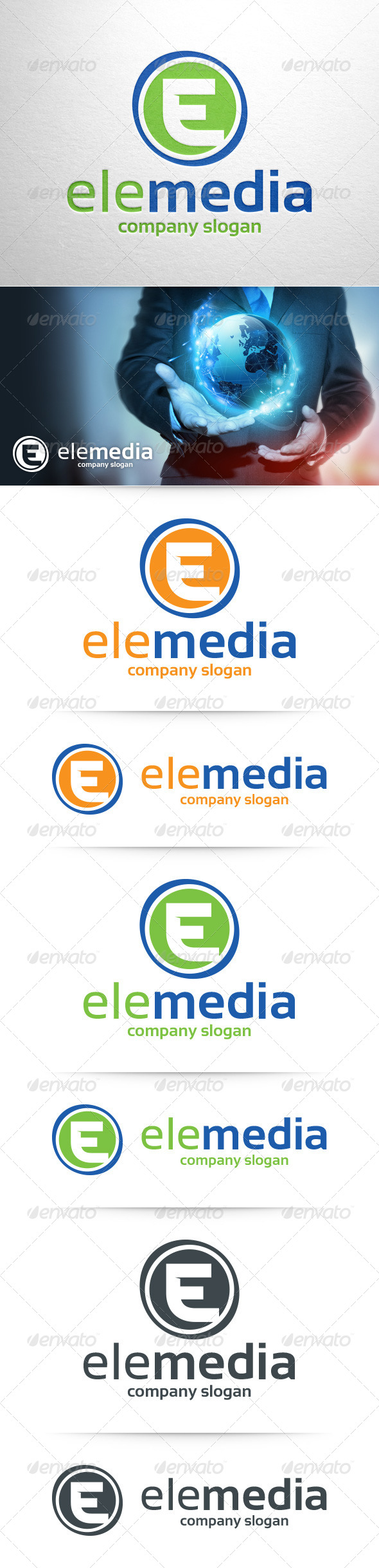 GraphicRiver Letter E Logo Template 8469454