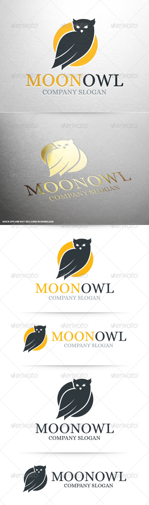 GraphicRiver Moon Owl Logo Template 8469456