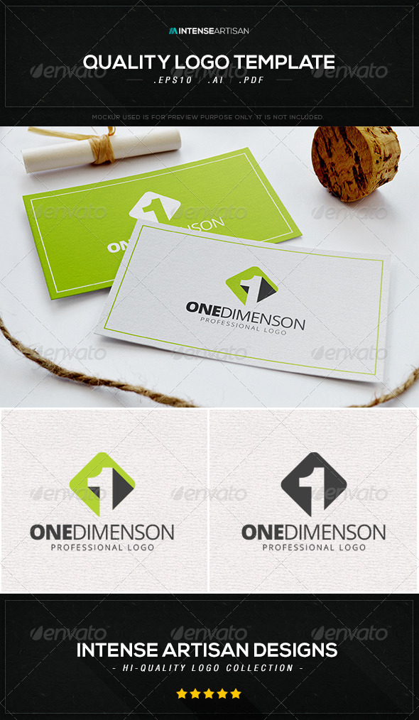 GraphicRiver One Dimension Logo Template 8469521