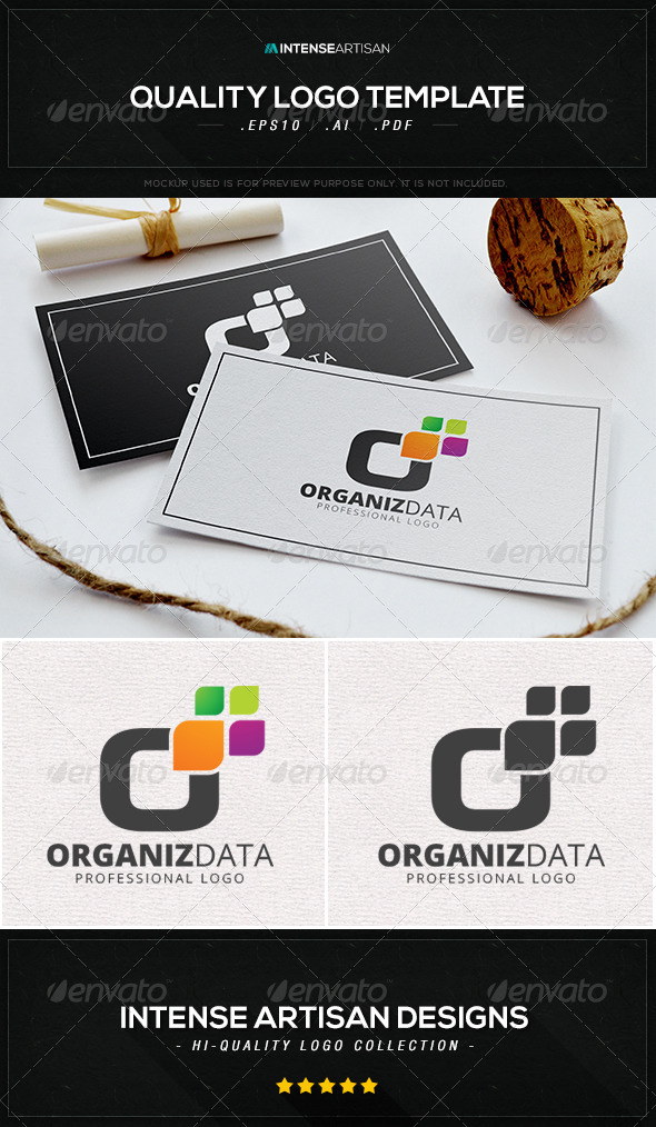 GraphicRiver Organise Data Logo Template 8469534