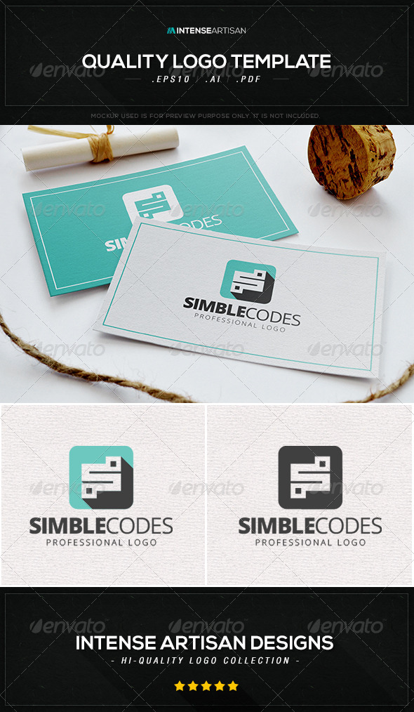GraphicRiver Simple Codes Logo Template 8469545