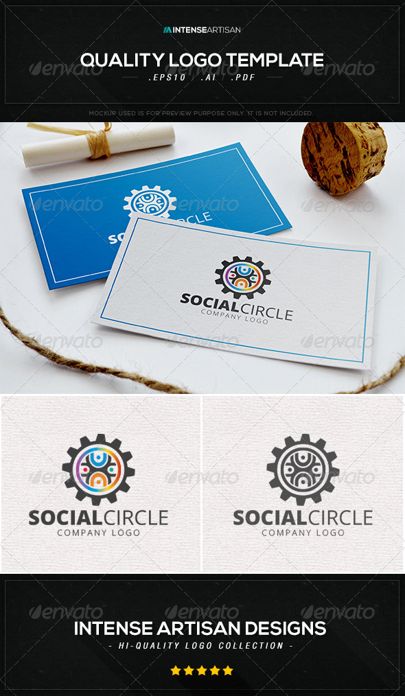 GraphicRiver Social Circle V.2 Logo Template 8469551