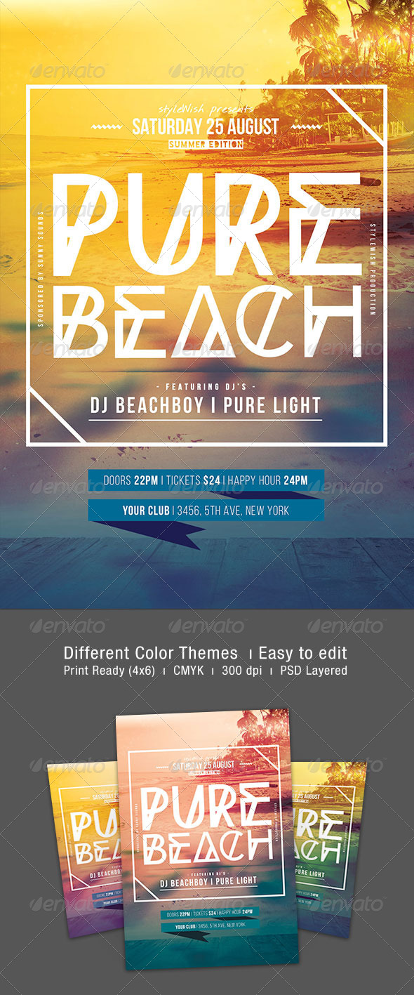 GraphicRiver Pure Beach Flyer 8469602