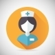 Medical Treatment Nurse Symbol Female Physician - GraphicRiver Item for Sale