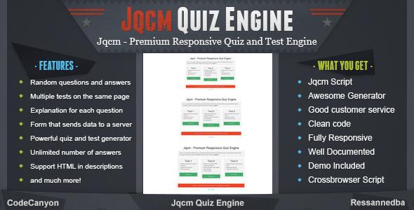Jqcm Premium Responsive Quiz Engine