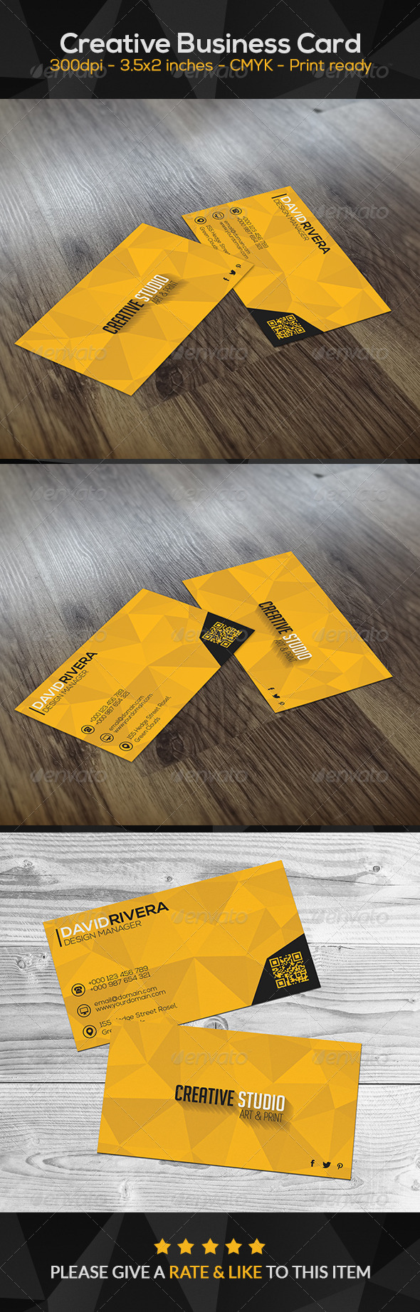 GraphicRiver Yellow Creative Business Card 8469662