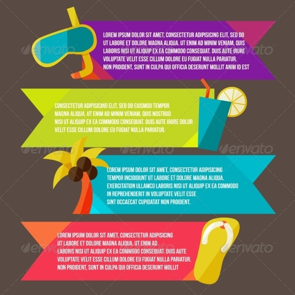 GraphicRiver Collection of Banners with Summer Design Elements 8469716