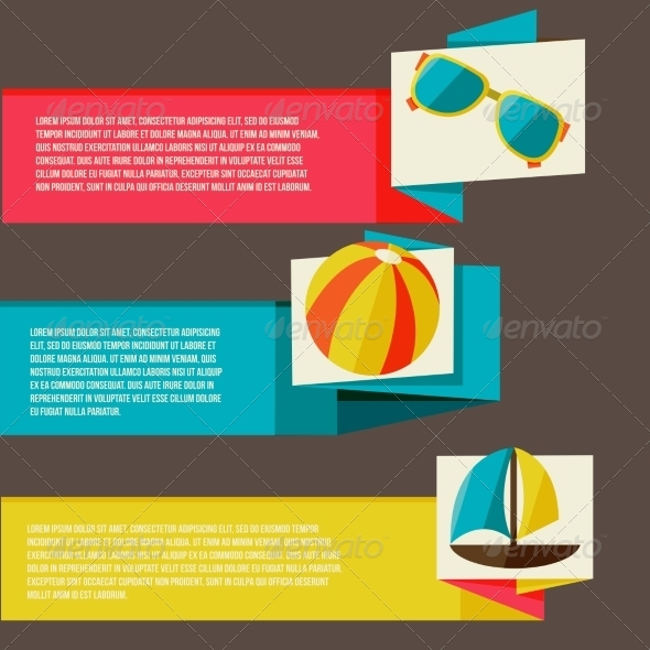 GraphicRiver Collection of Banners with Summer Design Elements 8469728