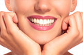 Closeup of smiling woman with perfect white teeth - PhotoDune Item for Sale