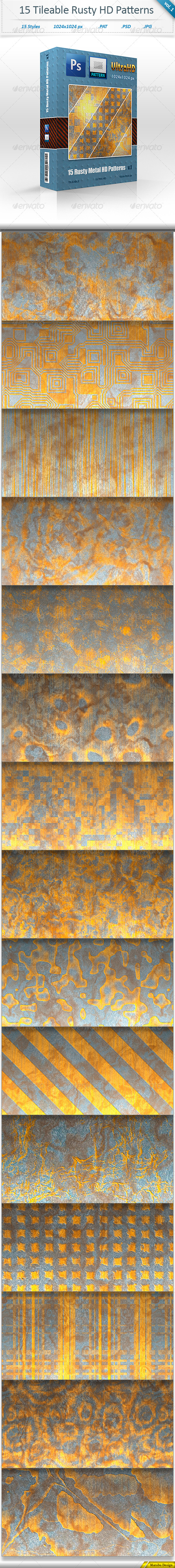 GraphicRiver Rusty Metal Tileable Pattern Backgrounds vol 1 8469737