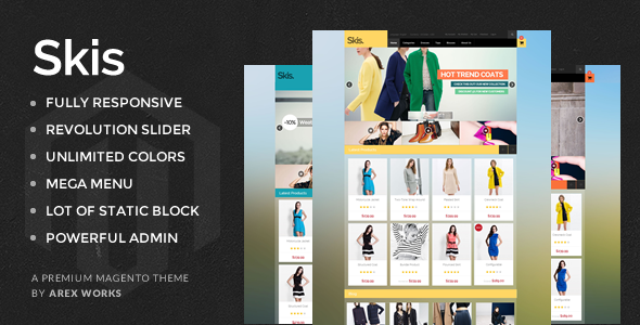 AM Skis - Multi Purpose Magento Theme