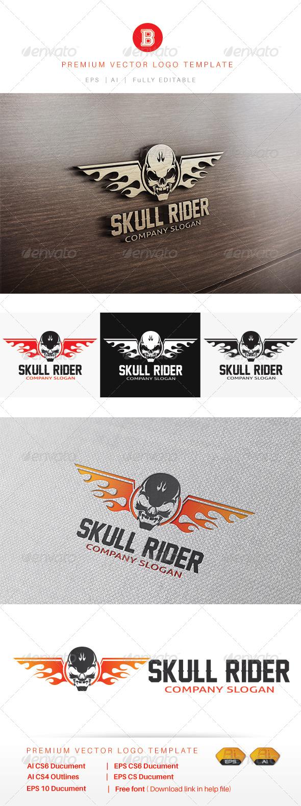 GraphicRiver Skull Rider 8469786