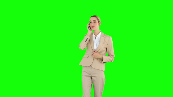 Angry Businesswoman Talking On The Phone 1