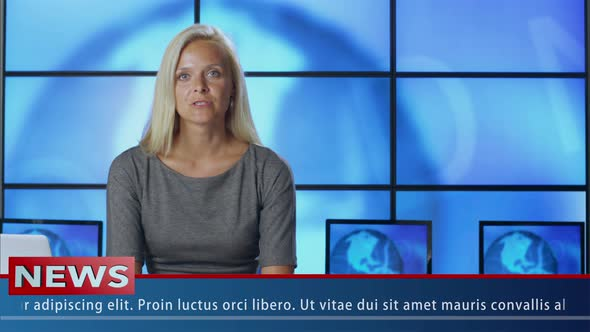Download News Presenter in Broadcasting Studio nulled download