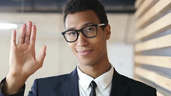Download Hello, Waving Hand  Black Businessman, Portrait nulled download