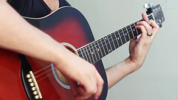 Download Man Playing An Acoustic Guitar nulled download