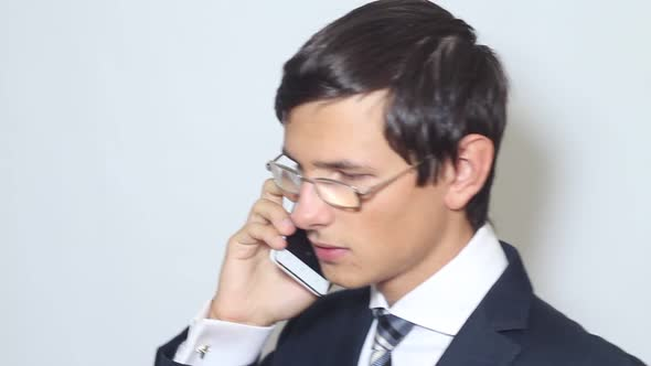 Download Young Businessman Talking On The Phone nulled download