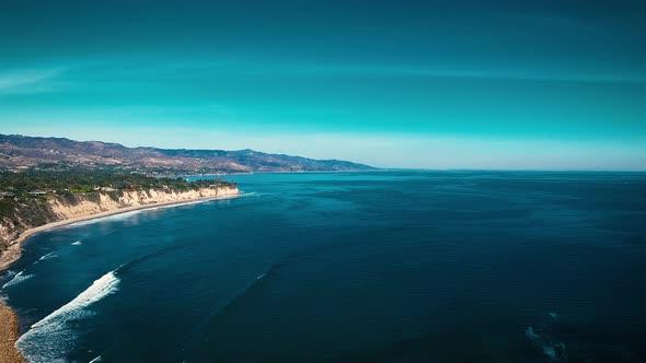 VideoHive Deserted Wild El Matador Beach Malibu California Aerial Ocean View Waves with Rocks 19000196