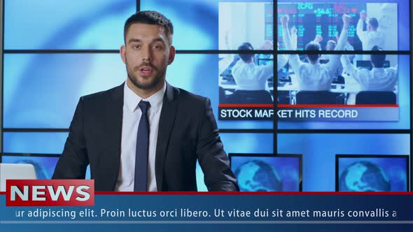 Download News Presenter Speaking About Stock Market nulled download