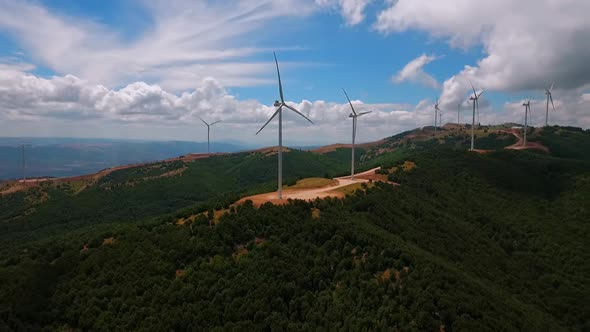 VideoHive Aerial Wind Power Plant 18978374