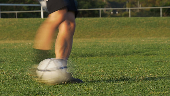 VideoHive Kicking A Soccer Ball 9866855