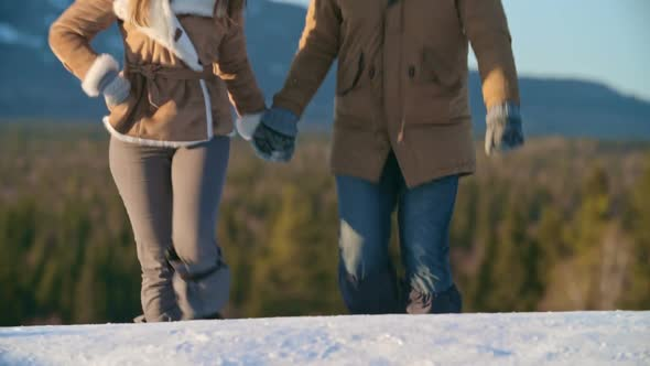 VideoHive Romantic Winter Hiking 19322570
