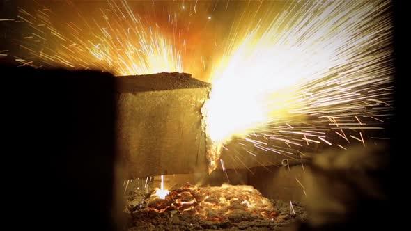 VideoHive Steel Beam Cut in Half 18985384
