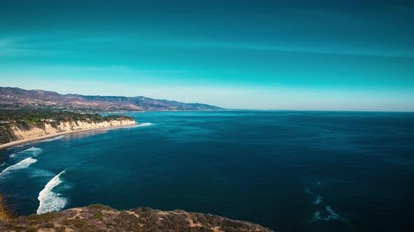 VideoHive Deserted Wild El Matador Beach Malibu California Aerial Ocean View Waves with Rocks 19000190