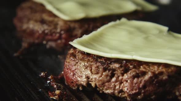 VideoHive Beefsteak With Cheese Fries On A Grill 18985312
