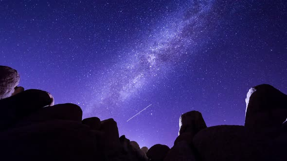 VideoHive Milky Way and Rocks in Joshua Tree National Park 19148734