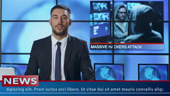 Download News Presenter Speaking About Hacker Attack nulled download