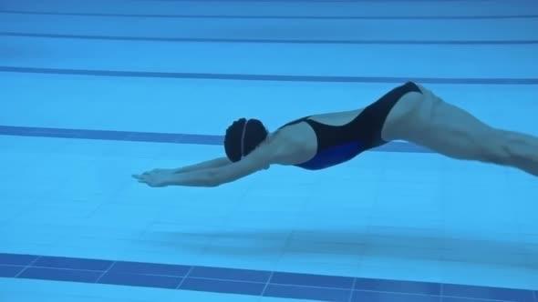 Vedenalainen Dolphin Kick - Sports Arkistofilmit