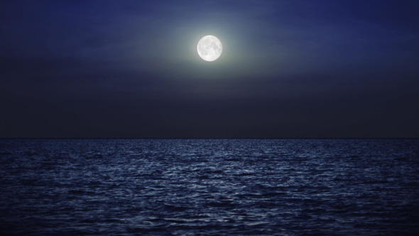 Moon Over the Sea