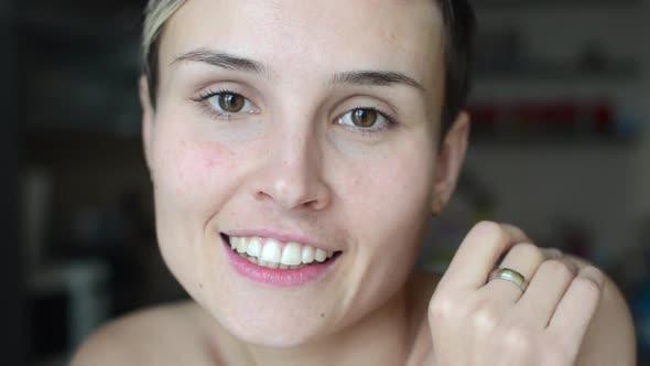 VideoHive Woman Smile to Camera 18710258