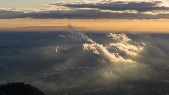 VideoHive Clouds and Golden Hour Light in Los Angeles California Day 19148897
