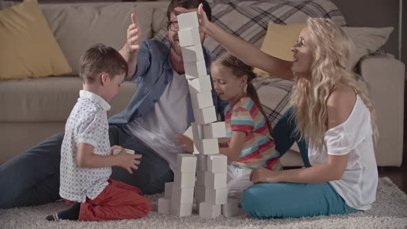VideoHive Family Building a Brick Tower 19668796