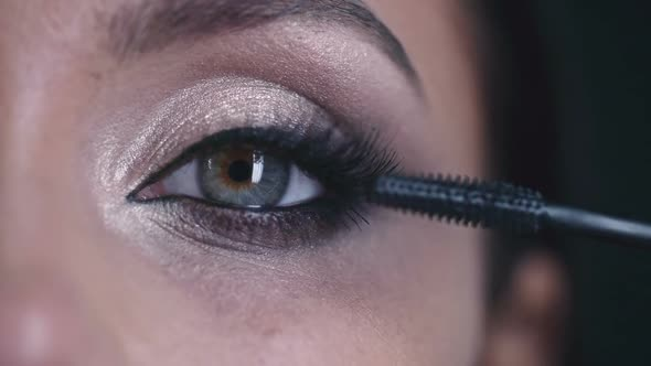 Download Macro Footage of Putting on Mascara nulled download